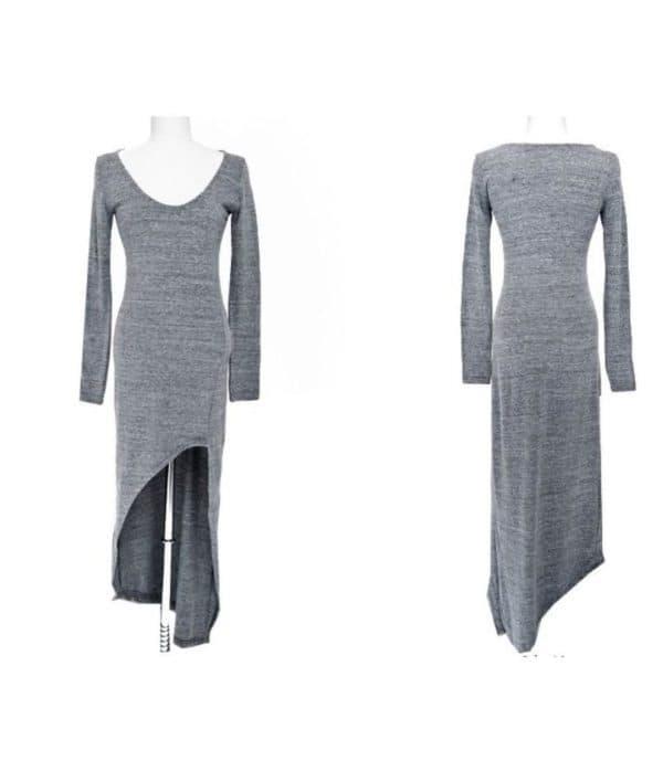 ассиметричное платье в споривном стиле