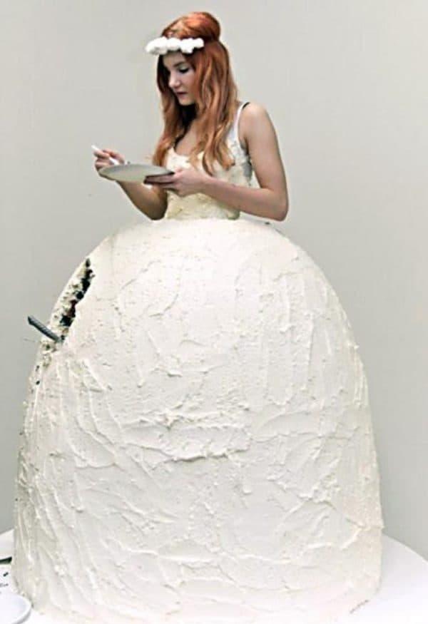 платье-торт для невесты