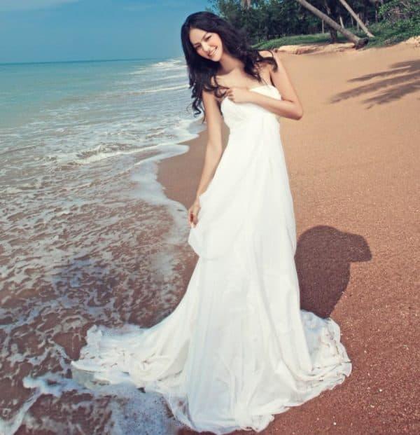 свадебное платье принцесса для праздника на пляже