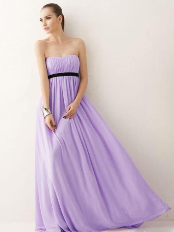 сиреневое платье в пол на свадьбу к подруге