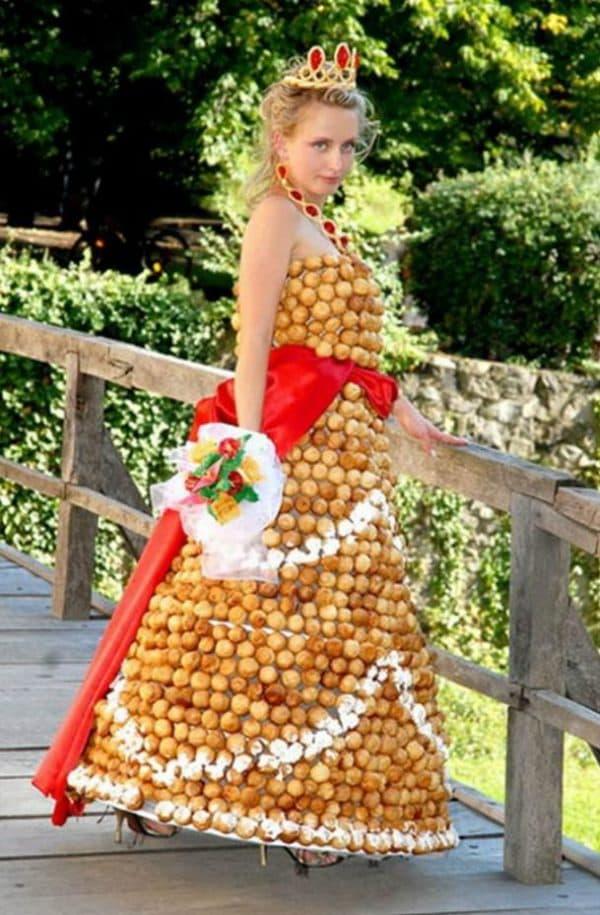 кондитерское свадебное платье