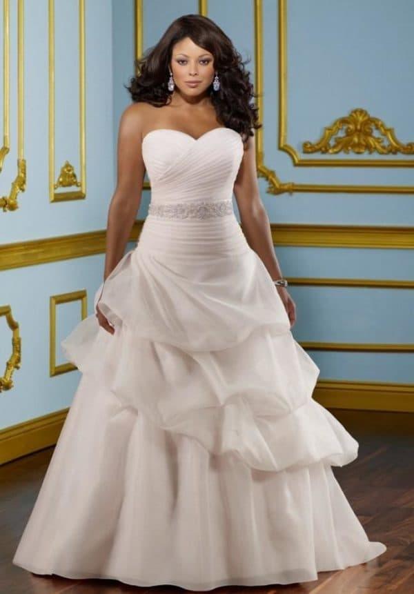 свадебное платье принцесса для пышных форм