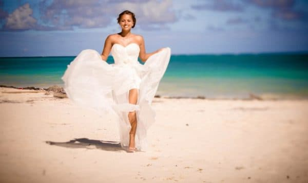 платье невесты трансформер на пляж