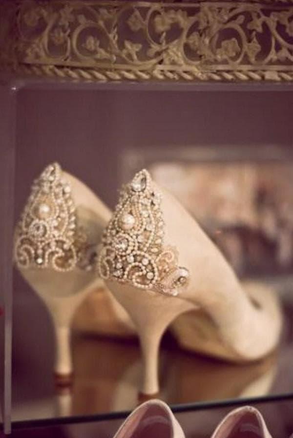 туфельки для платье невесты в стиле винтаж