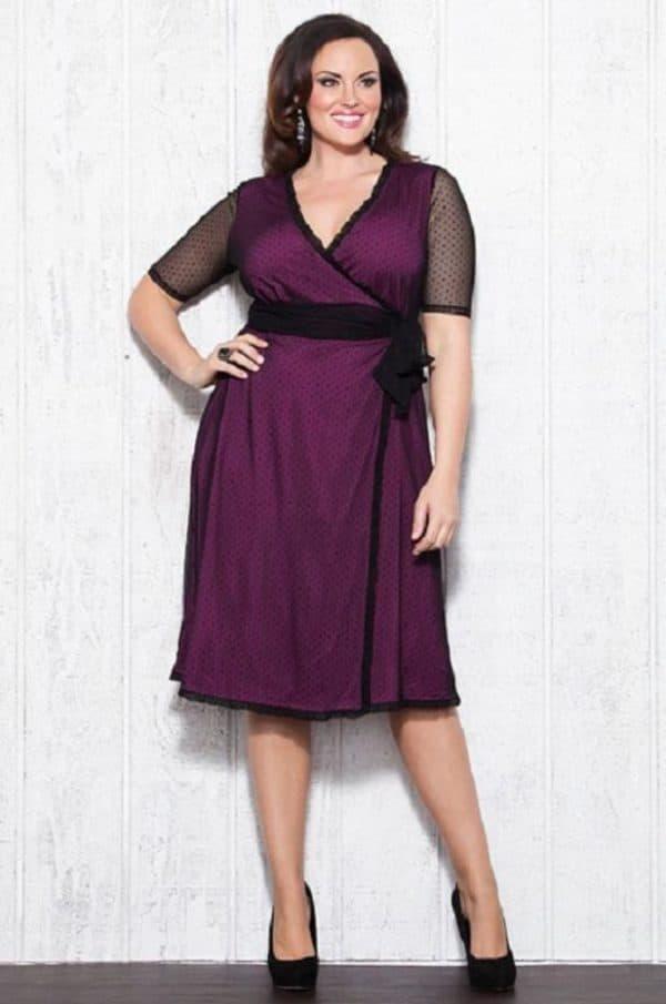 коктейльное платье для полной леди