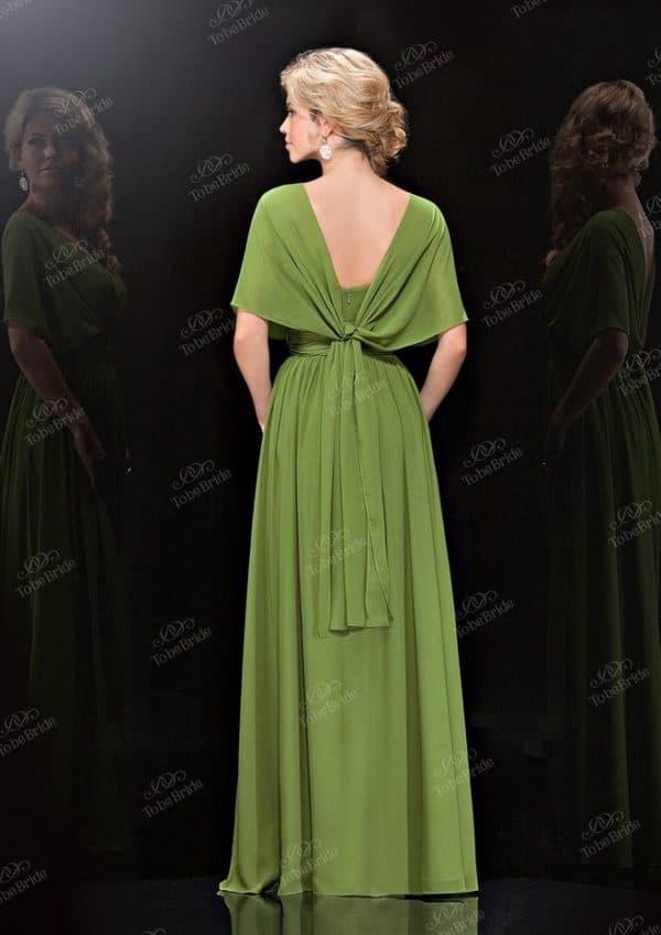 торжественное платье болотного цвета