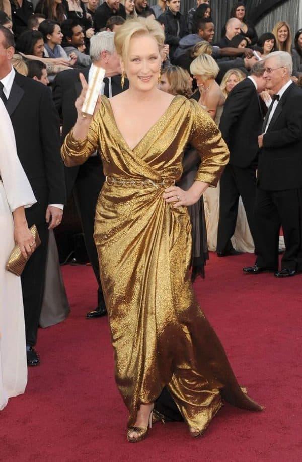 Мэрил Стрип в длинном вечернем платье