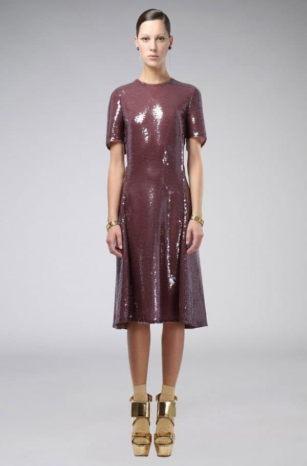платье из змеинной кожи