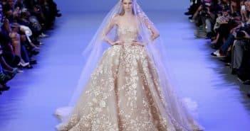 пышное свадебное платье Эли Сааба