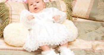 милое платье на крещение