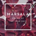 Платья цвета марсала: благородство винного оттенка