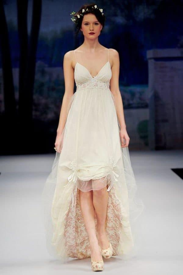 ретро платье для невесты короткое спереди