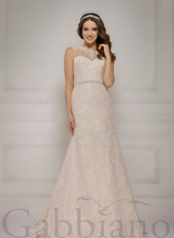 платье невесты цвета капучино