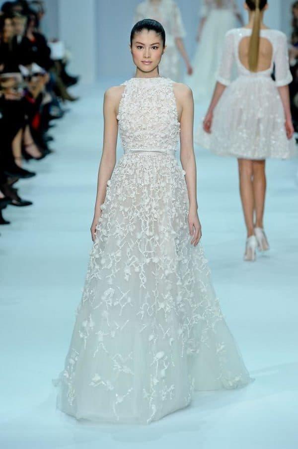 свадебное платье Эли Сааба в пол