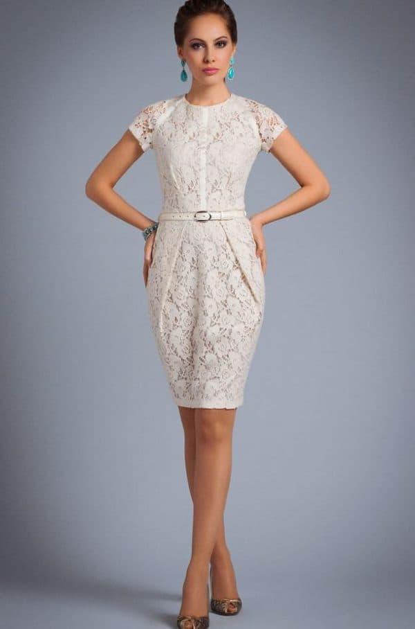 свадебное платье из кружева