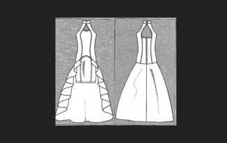 набросок свадебного платья для самостоятельного шитья