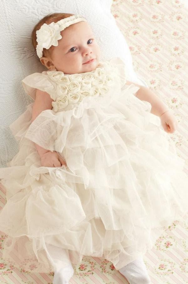 пышное платье для девочки на крестины