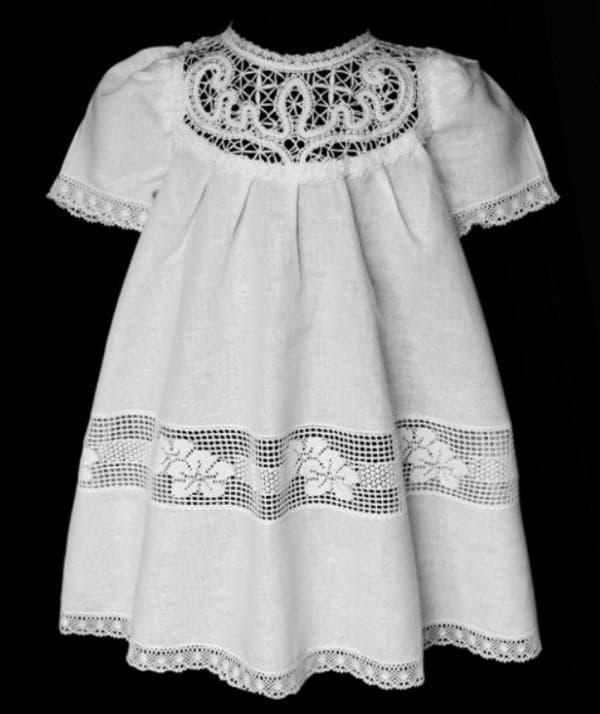 хлопковое платье для крещения