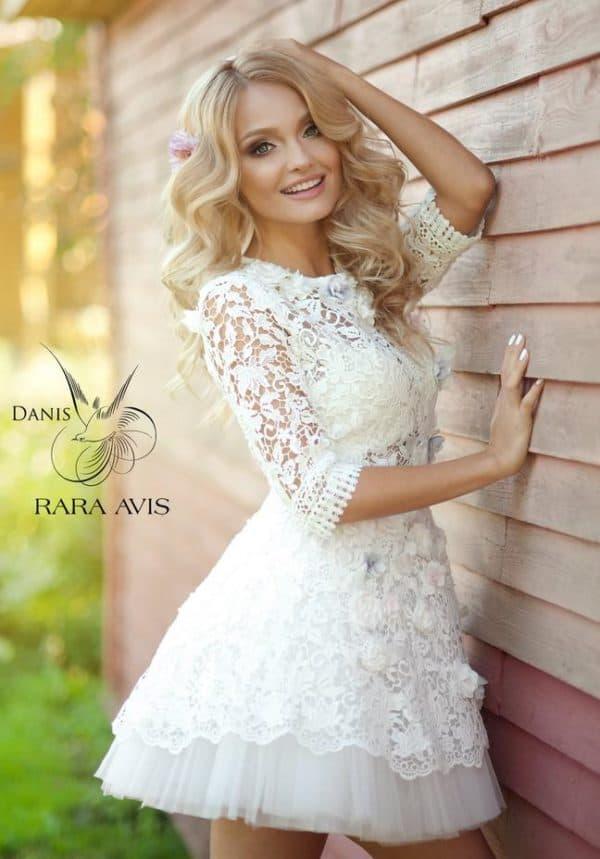 свадебное платье с кружевом от Рара Авис