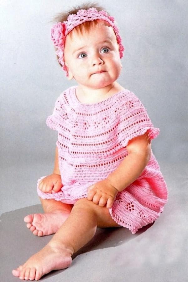 крестильное платье розового цвета