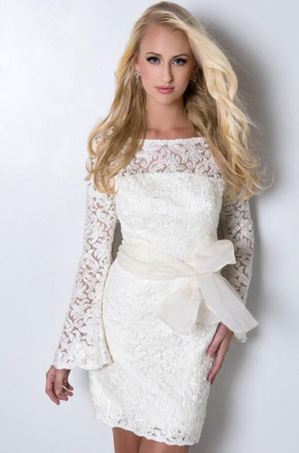 свадебное платье кружевное с длинными рукавами