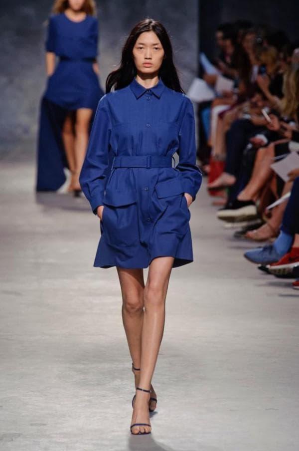 платье рубашка модного цвета