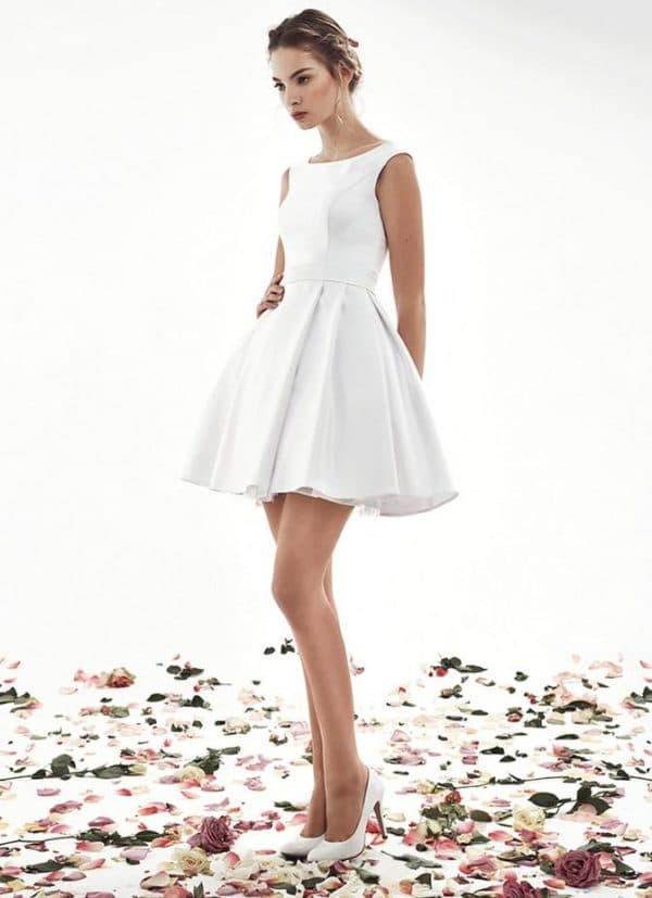 Скромное свадебное платье для регистрации и торжества