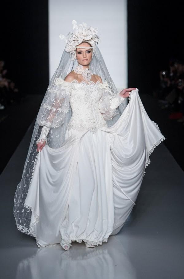 свадебное платье длинное от Вячеслава Зайцева