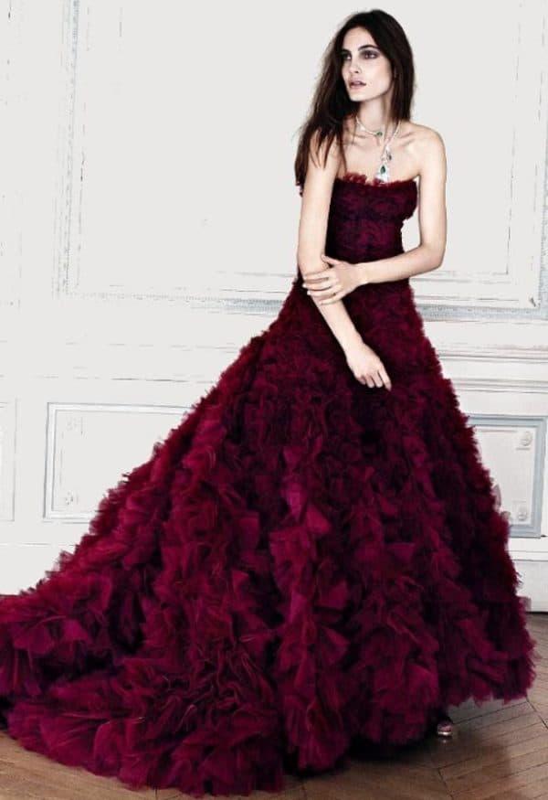 свадебное платье модного цвета