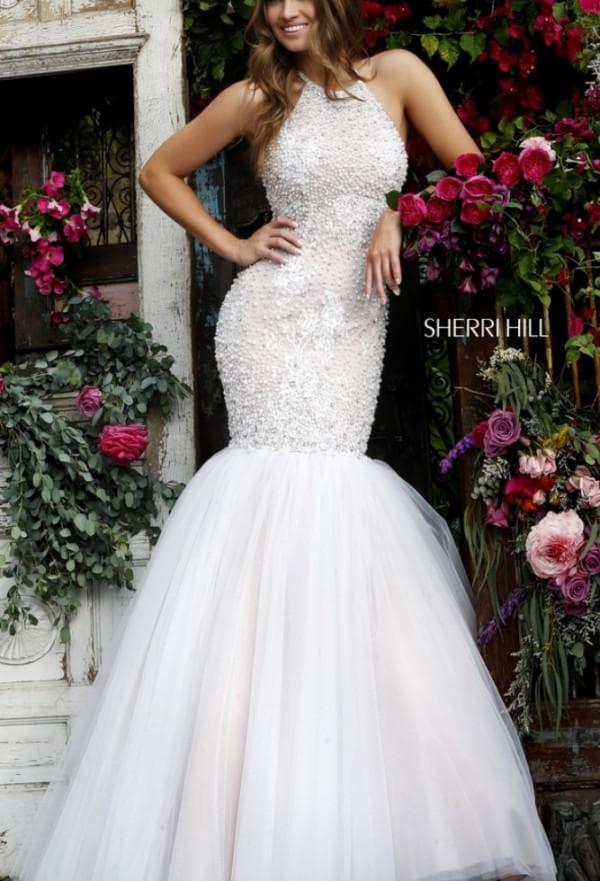 длинное свадебное платье рыбка