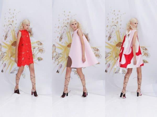 платья-колокол средней длины