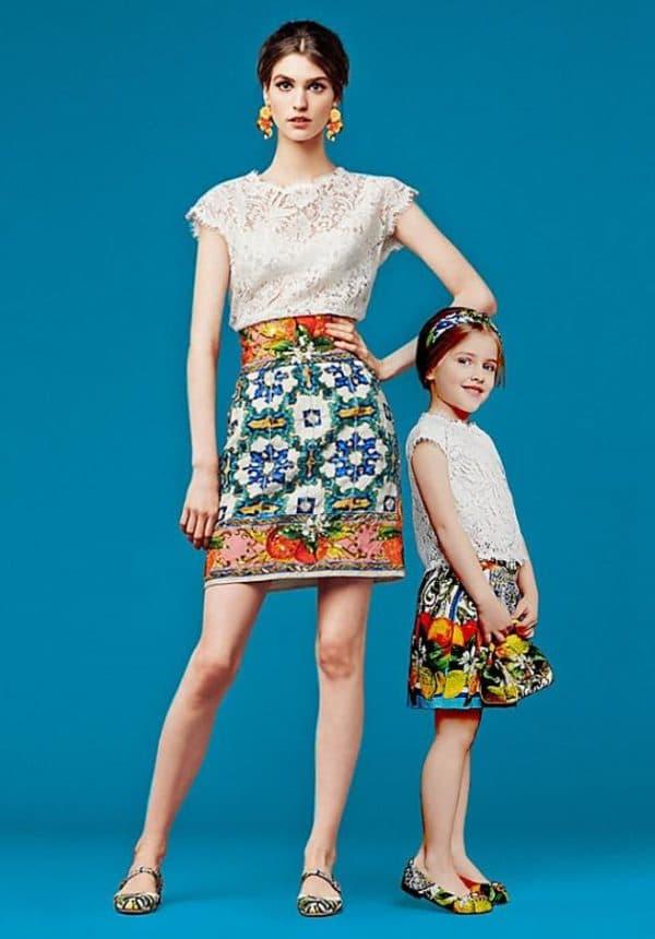 платья для мам и дочек одного цвета