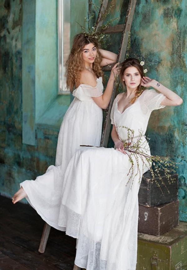стильные свадебные платья бохо