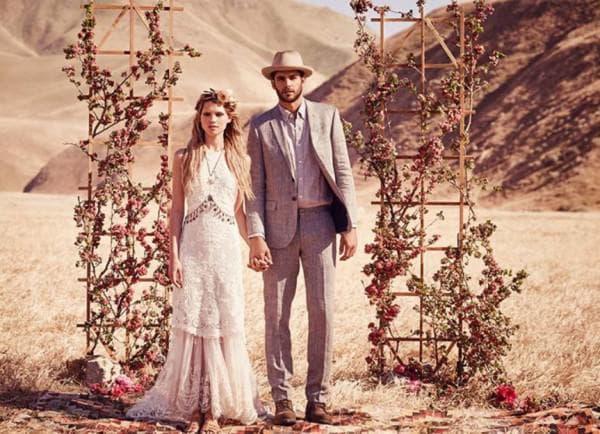 одежда в стиле бохо для жениха и невесты