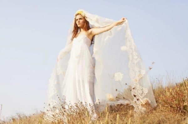 длинное платье невесты бохо шик