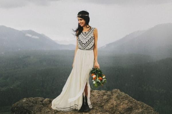 платье невесты бохо шик