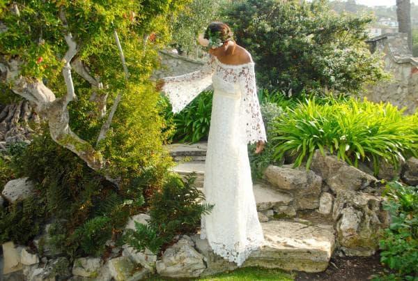 кружевное платье в стиле бохо