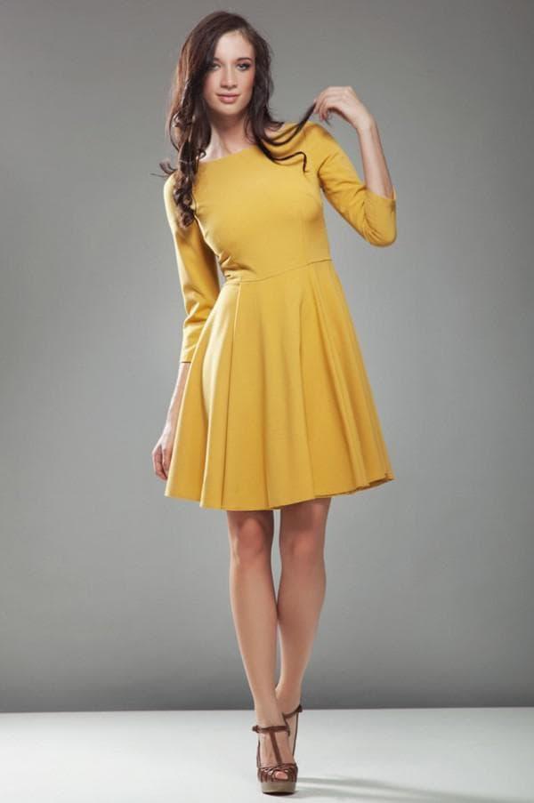 желтое платье с какими туфлями