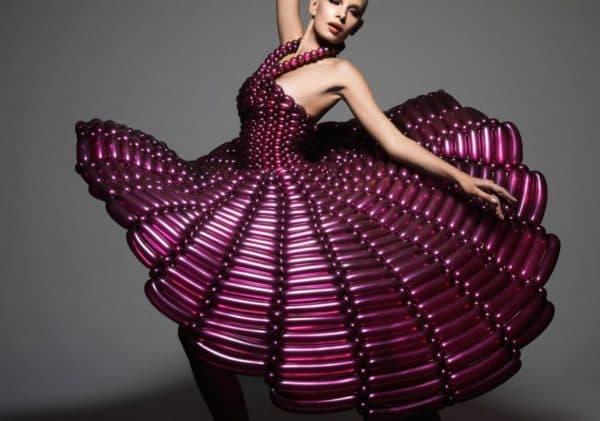платье из шариков