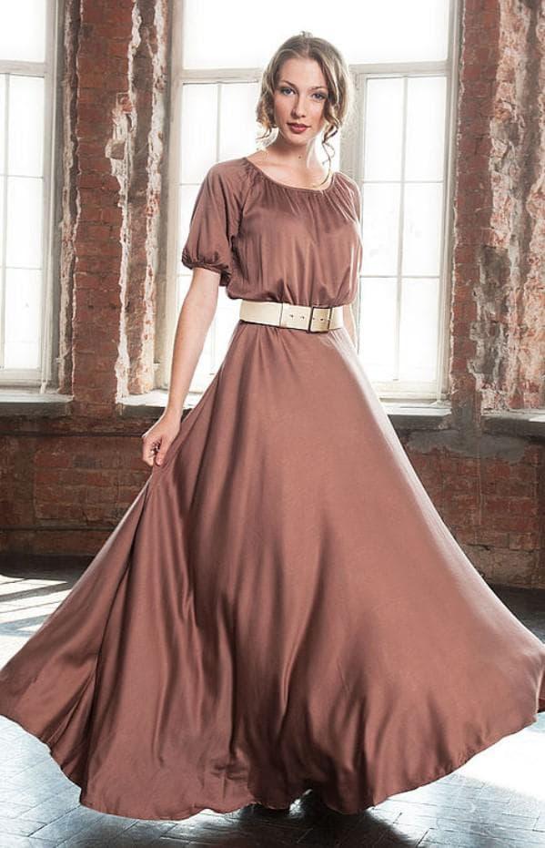 коричневое платье барышня крестьянка