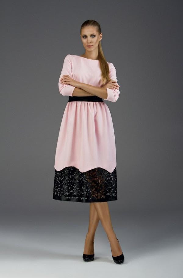 вечернее платье миди длины