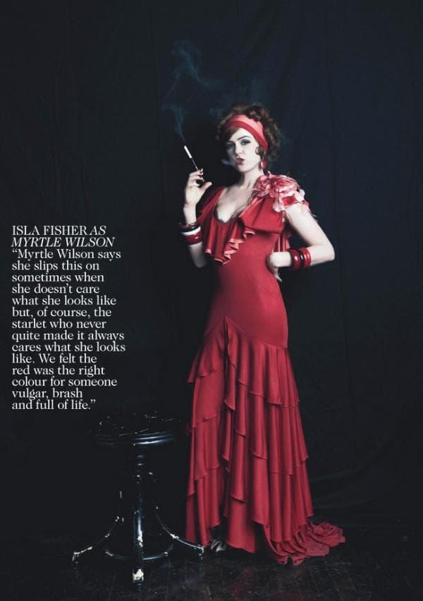 красное платье в стиле гэтсби