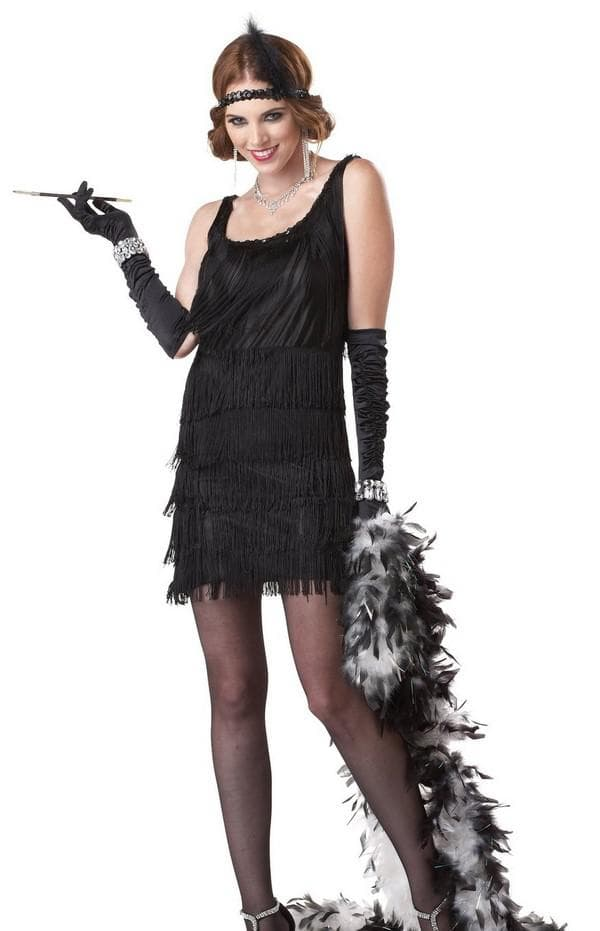 черное платье в стиле гэтсби