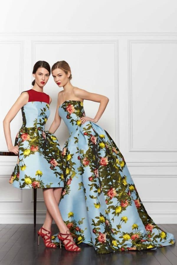 стилные платья в цветочек