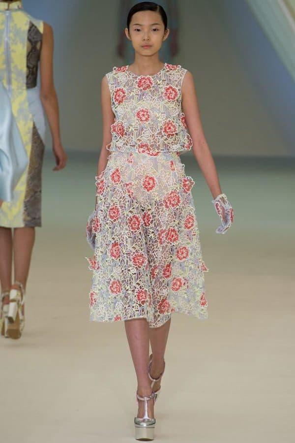 платье в 3D цветах