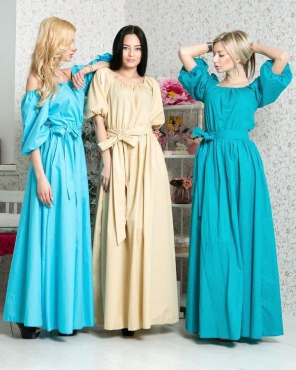 длинные платья для барышни