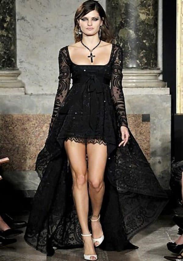 как удлинить платье со шлейфом