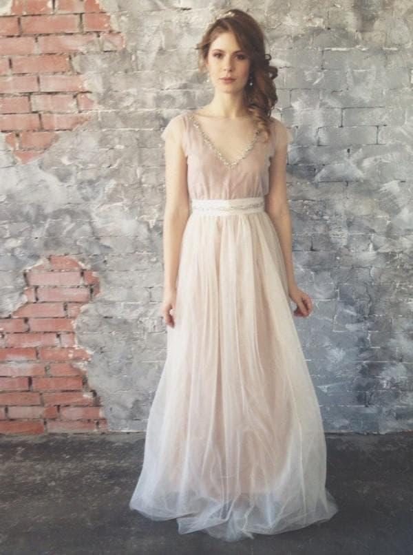 модное платье невесты в стиле бохо шик