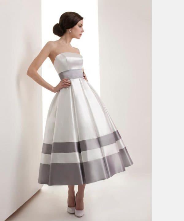 романтичное платье с пышной юбкой
