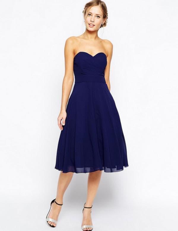 нарядное платье миди с пышной юбкой